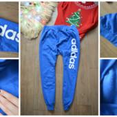 Оригинальные теплые спортивные штаны Adidas р-р М
