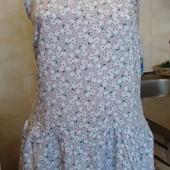 платье бело-голубо-розовое Clockhouse Размер S 100%вискоза