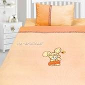 Детский постельный комплект бязь с вышивкой