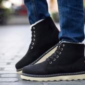 Зимние мужские ботинки-кроссовки)