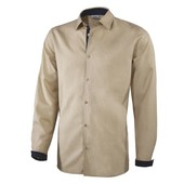Суперская бежевая льняная рубашка от Livergy размер ХL ворот 43-44