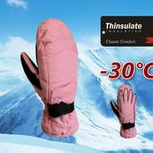 Лыжные женские варежки р. S/M со встроенными перчатками Thinsulate Walmart Сша