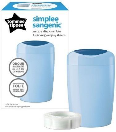 Накопитель подгузников sangenic simplee tommee tippee 87004801 великобритания голубой 12116552 фото №1