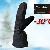 Лыжные мужские рукавицы краги со встроенной перчаткой Thinsulate Walmart Сша