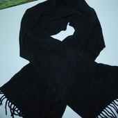 Теплый мужской шарф,темно-серый,идеальное состояние