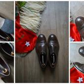 Идеальные туфли-броги , кожа,р-р 42-43