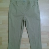 Фирменные укороченные джинсовые брючки L