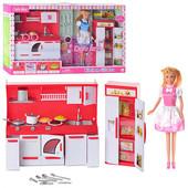 Лялька DEFA 8085 2 види, кухня, світло, кор., 60 см