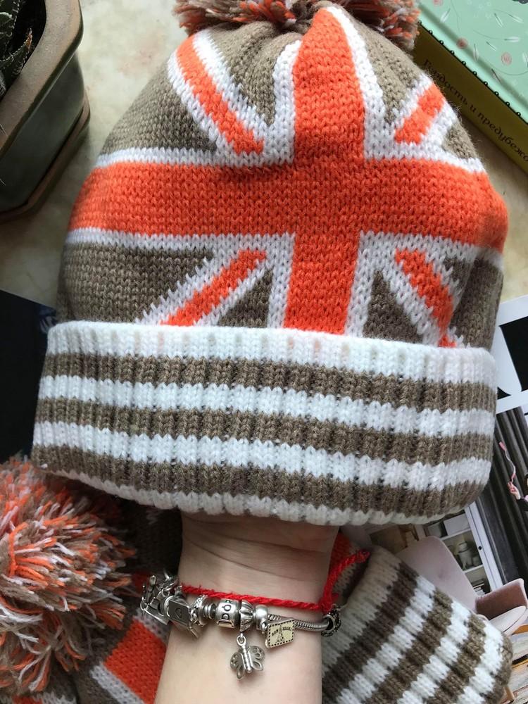 Новая яркая шапка с британским флагом фото №3