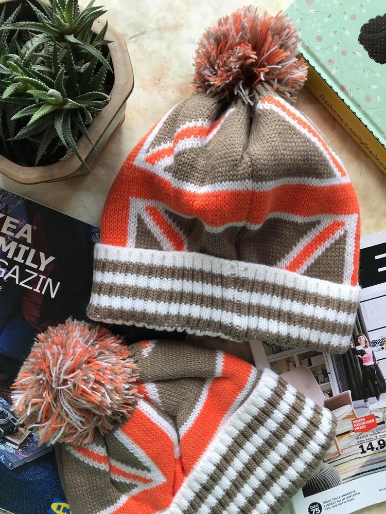 Новая яркая шапка с британским флагом фото №4