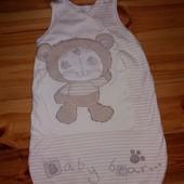 Детский спальный мешок одеяльце цельное 0-6 мес