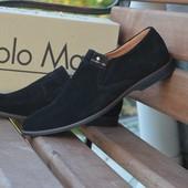 Туфли мужские Solo Man, р. 40-45, натур. замша, код RO-1320