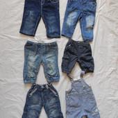 3-12 мес., джинсы, джинсики для малышей в отличном состоянии