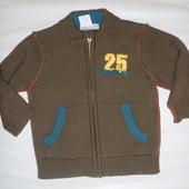 стильный свитер кофта на 9-12 мес