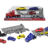 Автотранспортер с тремя машинками, 32 см, 3746000