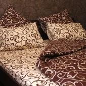 Комплект постельного белья Завитки микс, бязь белорусская