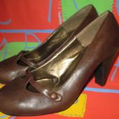 Туфли темно-коричневые