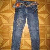 Детские джинсы для девочки рр. 116-140