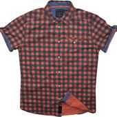Мужская рубашка безрукавка в клетку туманная сочная Review L