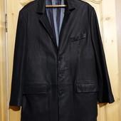 Очень красивый удлиненный кожаный пиджак Naturel Group Турция. 3XL.