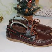40 26см Catalpa Кожаные туфли топ сайдеры мокасины