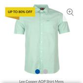 Рубашка с коротким рукавом Ли Купер размер Л