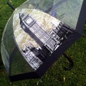 Детский /подростковый прозрачный зонт трость для мальчика и девочки