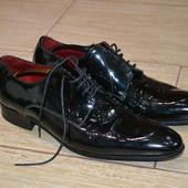 GioRgio 1958 vero cuoio made in italy 43р handmade туфли броги черные