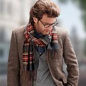 Оригинальный мужской шарф в клетку от TCM Tchibo