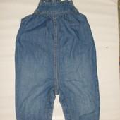 джинсовый комбинезон-штаны на 4-6-9 мес