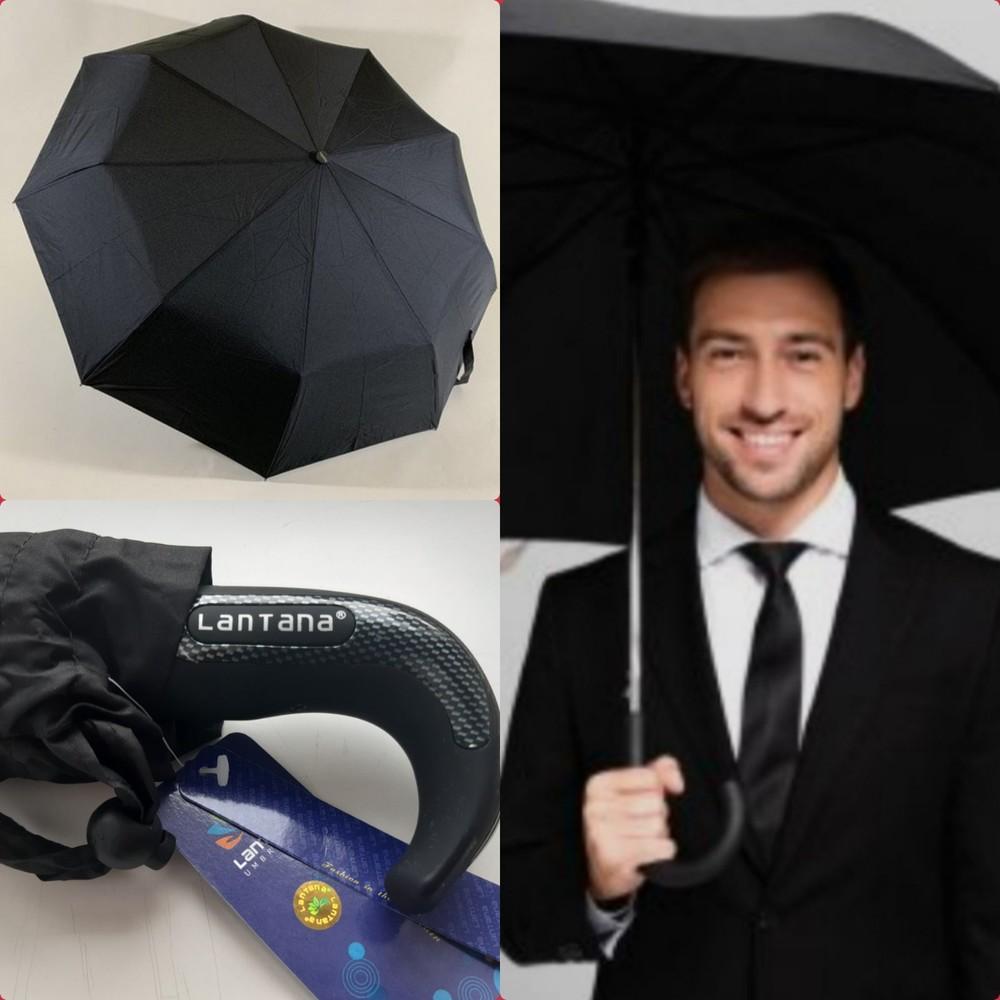 Автомат антиветер! мужской качественный складной зонт lantana фото №1