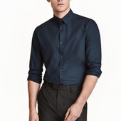 Рубашка H&M Slim fit Easy iron