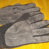 теплые замшевые перчатки 9,5 см