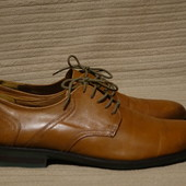 Формальные коричневые кожаные туфли дерби Jones Bootmaker Англия 45 р.