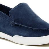 Замшевые синие мокасины бренд Guess р. 42