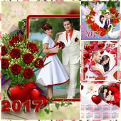 Календари, и оформления фото ко дню святого Валентина. 3 макета!