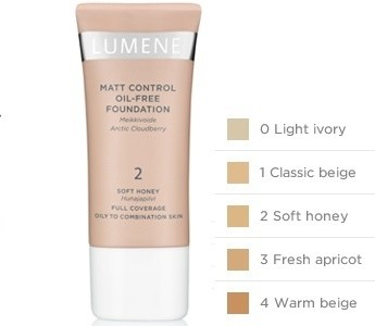 lumene matt control foundation