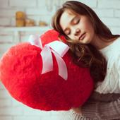 """Мягкая игрушка """"Плюшевое сердце""""."""