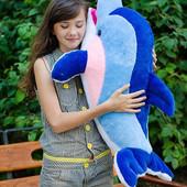 """Мягкая игрушка """"Дельфин Фенси"""" (большой, средний, маленький)."""