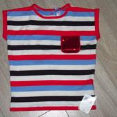 качественная футболка на 24-36мес. (98см). Фирма Mothercare. Новая.