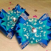Резинки в синем цвете