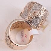Кольцо из медицинского сплава с покрытием золота 750 пробы