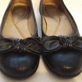 Фирменные кожаные мокасины,  балетки Hotter Comfort Concept р. 38-39 стелька 25 см