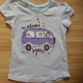 Фирменная футболка YD малышке 4-5 лет состояние отличное