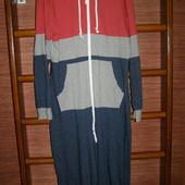 Пижама  хлопковая, с начесом, мужская, размер М, рост до 185 см