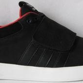 Adidas А1 Мужские кожаные черные кроссовки весна лето кеды обувь Адидас кросы стиль 2017