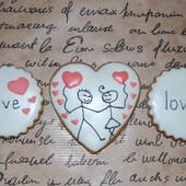 Медово-имбирный пряники ко Дню Святого Валентина!