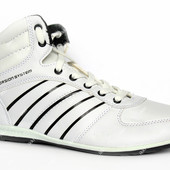 Демисезонные мужские кроссовки белого цвета (8286-1)