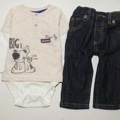 Комплект боди с джинсами  на 3-6 мес