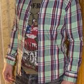 плотная рубашка мужская Uniqlo XS-S состояние отлоичное